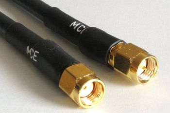 H 155 WLAN Coaxial Cable assembled with RP SMA Male to SMA Male, 15m