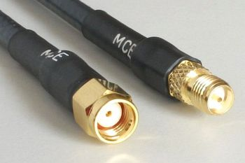 H 155 WLAN Coaxial Cable assembled with RP SMA Male to RP SMA Female, 50 cm