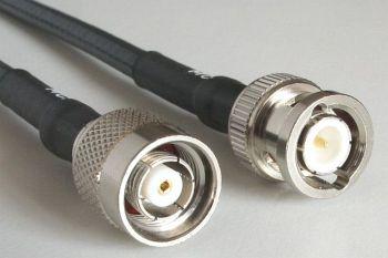 H 155 mit RP TNC Stecker auf BNC Stecker, Länge 4m