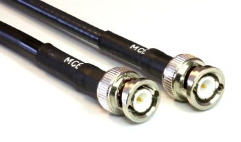 H 155 PE Coaxial Cable assembled with BNC Male to BNC Male, 1m