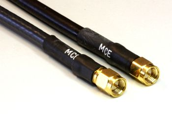 H 155 PE Coaxial Cable assembled with SMA Male to SMA Male, 1m