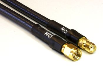 H 155 PE Coaxial Cable assembled with SMA Male to SMA Female, 50cm