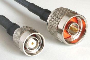 H 155 PE mit RP TNC Stecker auf N Stecker, Länge 8m