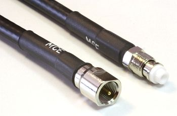 CLF 240 Low Loss Coaxial Cable assembled with FME Male to FME Female, 10m