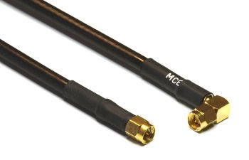 Aircell 5 Coaxial Cable Assemblies with SMA Male R/A to SMA Male, 1m
