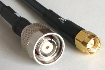 Aircell 7 mit RP TNC Stecker Crimp auf SMA Stecker Crimp, 5m