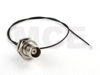 Pigtail, U.FL to TNC Bulkhead, 1.13mm Coaxial Cable, Length 35cm