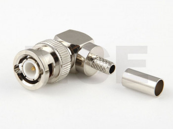 BNC Plug R/A for RG 59, PTFE, Crimp