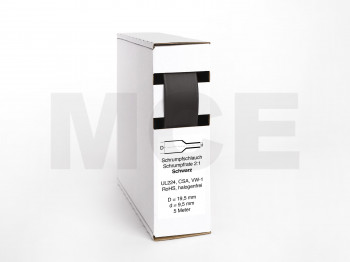 Heat Shrink Tube Box 5m black 19.5mm / 9.5mm