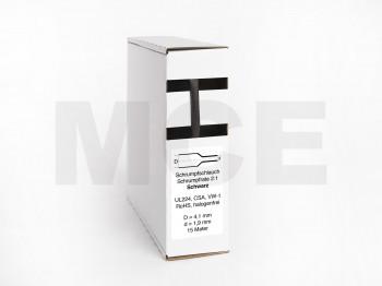 Schrumpfschlauch Box 15m Schwarz 4,1mm / 2,0mm