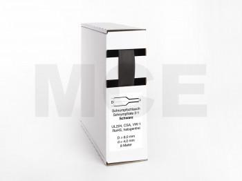 Heat Shrink Tube Box 8m black 8.0mm / 4.0mm
