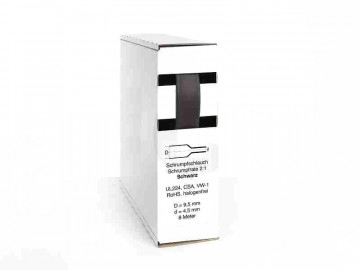 Heat Shrink Tube Box 8m black 9.5mm / 4.5mm