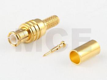 MCX Stecker für RG 174 / 188 / 316, Vergoldet, Crimp