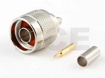 N Plug for RG 142 / 223 / 400, Crimp