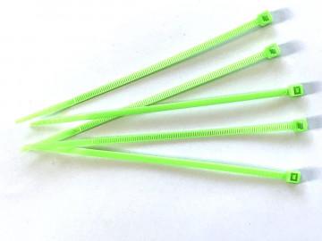 Kabelbinder Neon-Grün 2,5 x 100 mm, Beutel mit 100 Stück