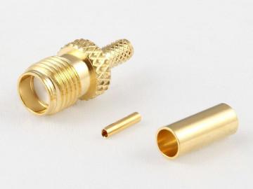 SMA Kabelbuchse für RD316, RG316-D, crimp