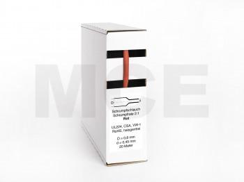 Schrumpfschlauch-Box 20m Rot 0,8mm / 0,45mm