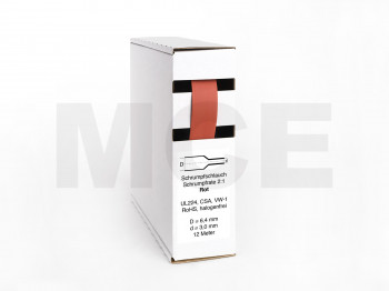 Heat Shrink Tube Box 8m red 12.7mm / 6.4mm