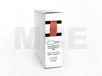 Heat Shrink Tube Box 12m red 6.4mm / 3.0mm