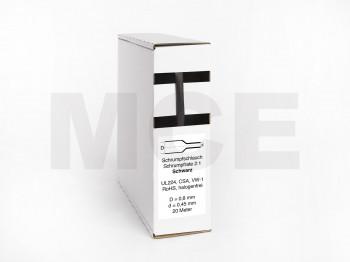Heat Shrink Tube Box 20m black 0.8mm / 0.45mm