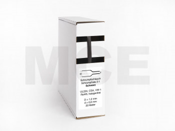 Heat Shrink Tube Box 20m Black 1.2mm / 0.6mm