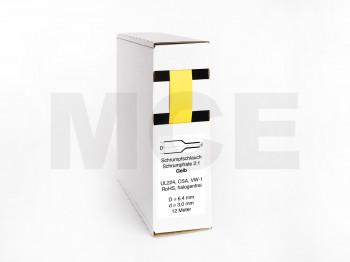 Heat Shrink Tube Box 12m Yellow 6.4mm / 3.0mm