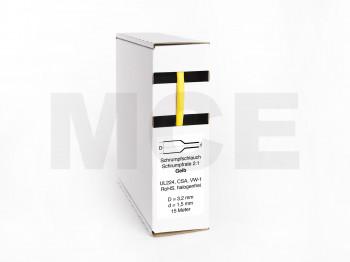 Heat Shrink Tube Box 15m Yellow 3.2mm / 1.6mm