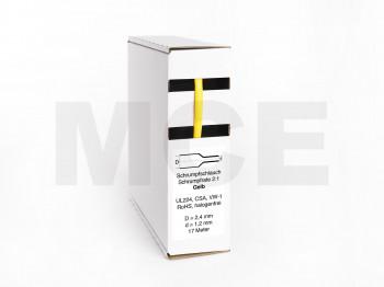 Schrumpfschlauch Box 17m Gelb 2,4mm / 1,2mm