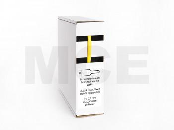 Schrumpfschlauch Box 20m Gelb 0,8mm / 0,45mm