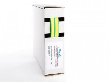Schrumpfschlauch gelb-grün 9,5 / 3,0 mm, Box 4,5m DERAY-IGY