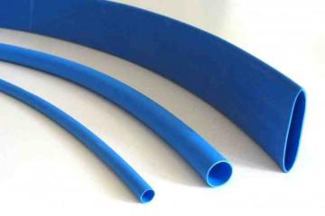 Schrumpfschlauch blau 1,6 / 0,8 mm, Meterware, DERAY-H