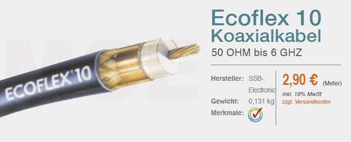 Ecoflex-10 Koaxialkabel S2
