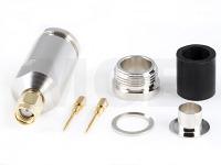SMA Plug for Ecoflex 10, Aircom Premium, Clamp