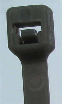 Kabelbinder Schwarz 2,5 x 202 mm, Beutel mit 100 Stück
