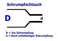 Schrumpfschlauch schwarz 38,1 / 19,1 mm, Meterware, DERAY-HB