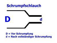 1,22 m Schrumpfschlauch schwarz, Kleber, 6,0 / 2,0 mm, DERAY-IAKT