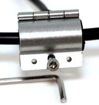 Erdungsschelle für Koaxialkabel mit 10 bis 12 mm Durchmesser