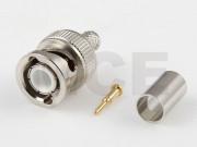 BNC Stecker für H-155, CLF-240, PTFE, Crimp / Crimp