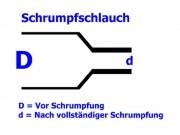 Schrumpfschlauch transparent 1,6 / 0,8 mm, Meterware, DERAY-HB