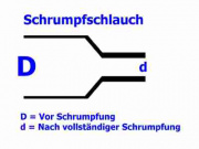 Schrumpfschlauch transparent 1,2 / 0,6 mm, Meterware, DERAY-HB