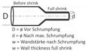Schrumpfschlauch orange 1,2 / 0,6 mm, Box 12m TOPCROSS